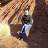 Sitting on Ayers Rock