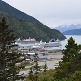 Looking down on the Port in Skagway