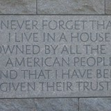 FDR's words about living in the White House
