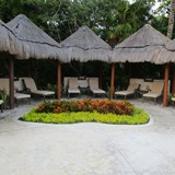 Nice seating area at the pool.