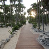 Walk way looking away from the beach