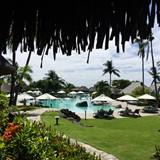 Zero entry pool at Hilton Moorea Lagoon Spa and Re