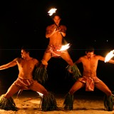 Fire dancers at the dinner show