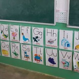 Learning the alphabet at school