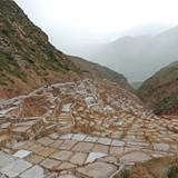 The salt evaporation ponds at Maras