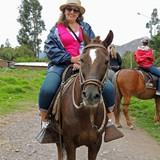 Laurie horseback Riding in Urubamba
