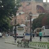Outside the Hagia Sophia
