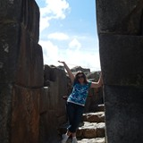 Laurie at Sacsayhuaman Inca Archaeological Site