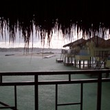 Over the water bungalows in Mexico