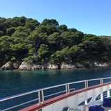 Anchored offshore for a swim in the Adriatic!