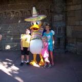 My kiddos meeting Donald Duck