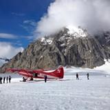 Landing on a Glacier on Mount McKinley