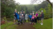 Group Fun Ziplining Over Waterfalls