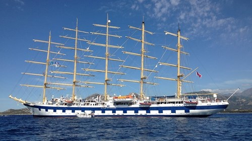 Tall Ship Royal Clipper at Anchor