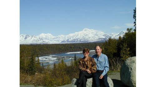 Mt McKinley in the background.