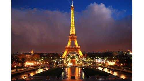 The Eiffel Tower at Night!