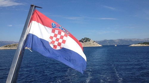 View from the stern of Croatian Coastal Cruise