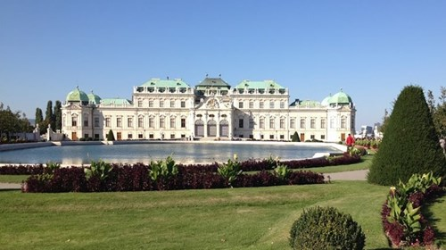 The Historic Belvedere Palace in Vienna.