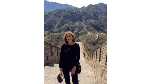 Maddy on the Great Wall of China
