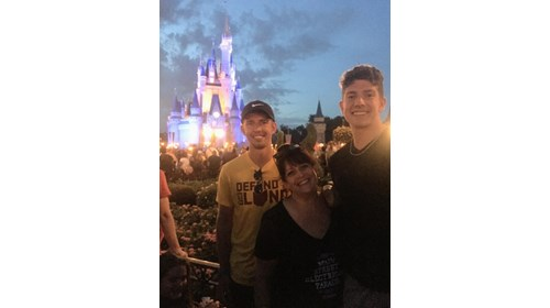Me and my boys at Magic Kingdom