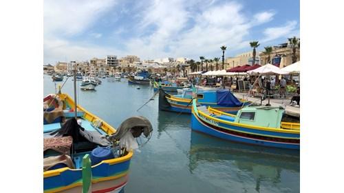 Luzzo Fishing Boats in Marsaxlokk Bay, Malta
