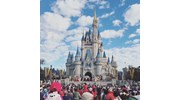 Magic Kingdom during the daily opening ceremony