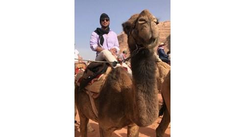 Wadi Rum desert Camel ride, Jordan