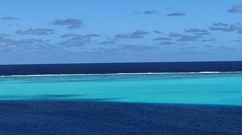 Blue lagoon of Huahine Iti