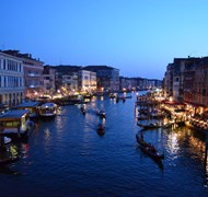 Rialto Bridge at Night- Venice, Italy