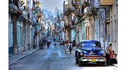 Regular cars on the streets of Havana