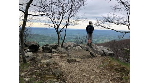Shenandoah National Park with my son this spring.