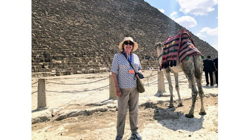 Visiting Giza and the Pyramids. Love my ride