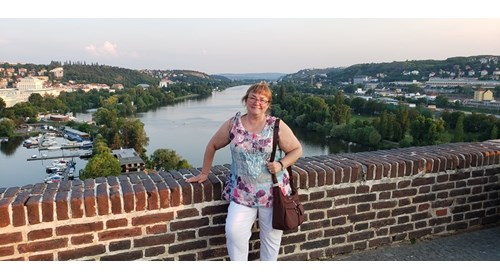 Danette, enjoying one of Europe's great rivers.