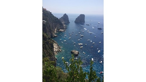 The view from Capri last summer