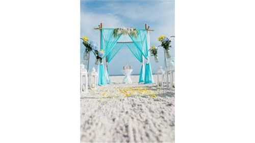 Wedding beach canopy Riviera Maya