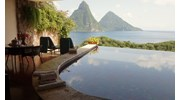 Beautiful Pitons of St Lucia at Jade Mountain