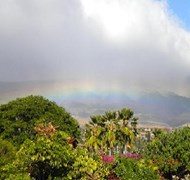 Rainbows over the Maui Island