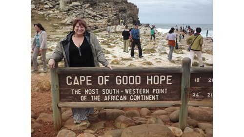 Sherry, at the tip of Africa!