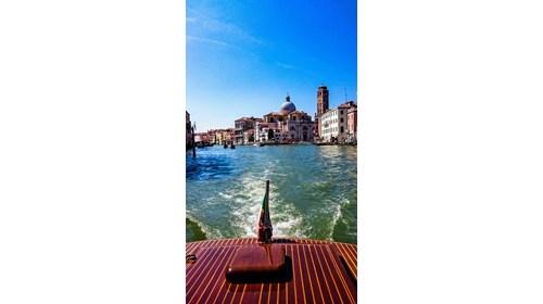 Private luxury boat ride through Venice, Italy.