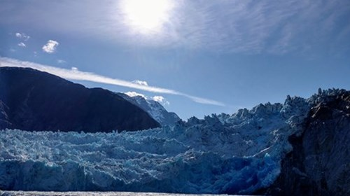 Sawyer Glacier in Tracy Arm Fjord, Alaska