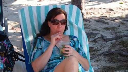 Relaxing on the Beach ~ Great Stirrup Cay