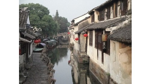 Zhouzhuang - water village outside of Shanghai.