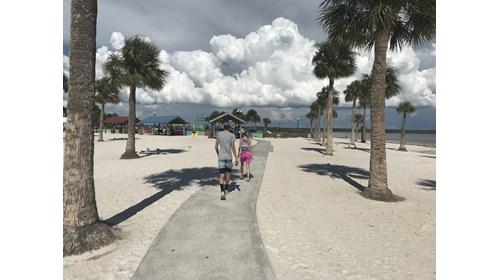 Strolling with my kids...Pine Island FL.
