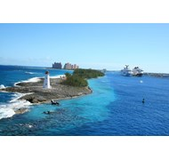 Out view saling into Nassau, The Bahamas