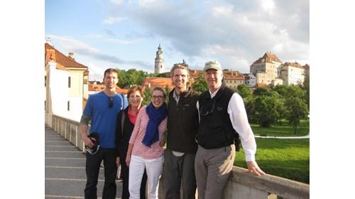 Ceský Krumlov, Czech Republic with family