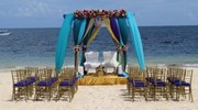 Beautiful Beach Mandap at Now Sapphire in Mexico