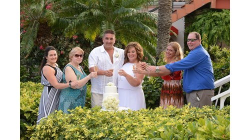 Our small group for our wedding in Antigua!