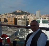 On the deck of the Equinox in Naples, Italy