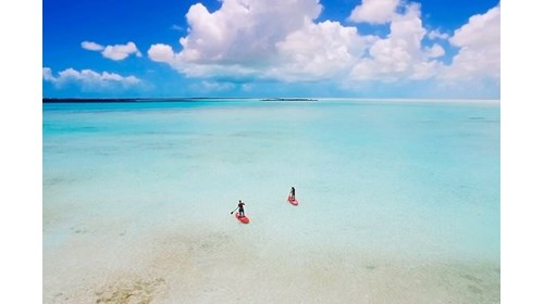 Paddle boarding on the island of South Caicos