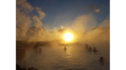 The Blue Lagoon at Sunrise, Iceland